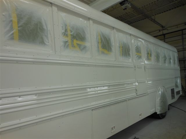 School Bus during Painting