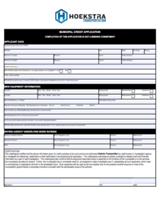Municipal Application PDF link