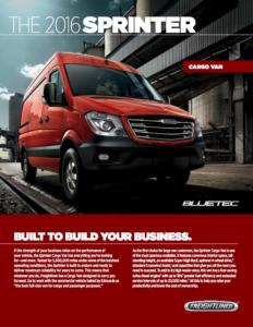 Sprinter Cargo Van PDF link
