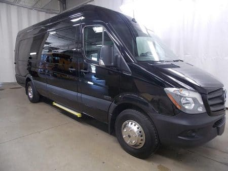 Mercedes Sprinter Van 3/4 View passenger side