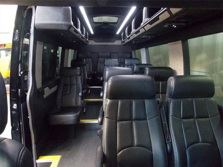 Mercedes Sprinter Van back seating