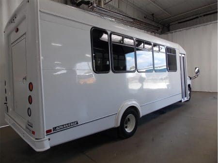 Commerical Bus - 16 passenger plus - rear passenger view