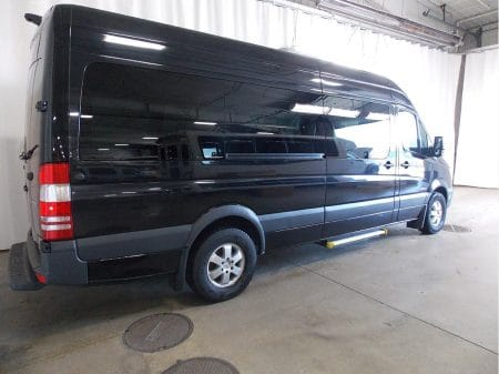 12 Passenger Van 3/4 rear view