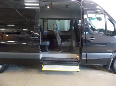 12 Passenger Van side door with custom step