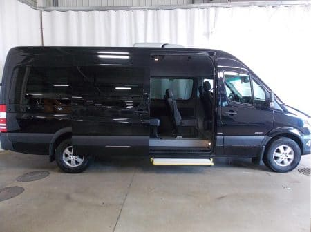 12 Passenger Van with side door open