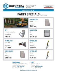 November & December Thomas School Bus Parts Specials PDF link