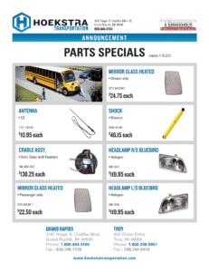 West School Bus Parts Specials PDF link